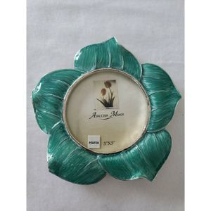 Ashleigh Manor Picture Frame 3x3 Turquoise Flower